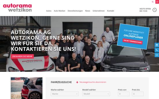 Erweiterte Website - Autorama AG Wetzikon